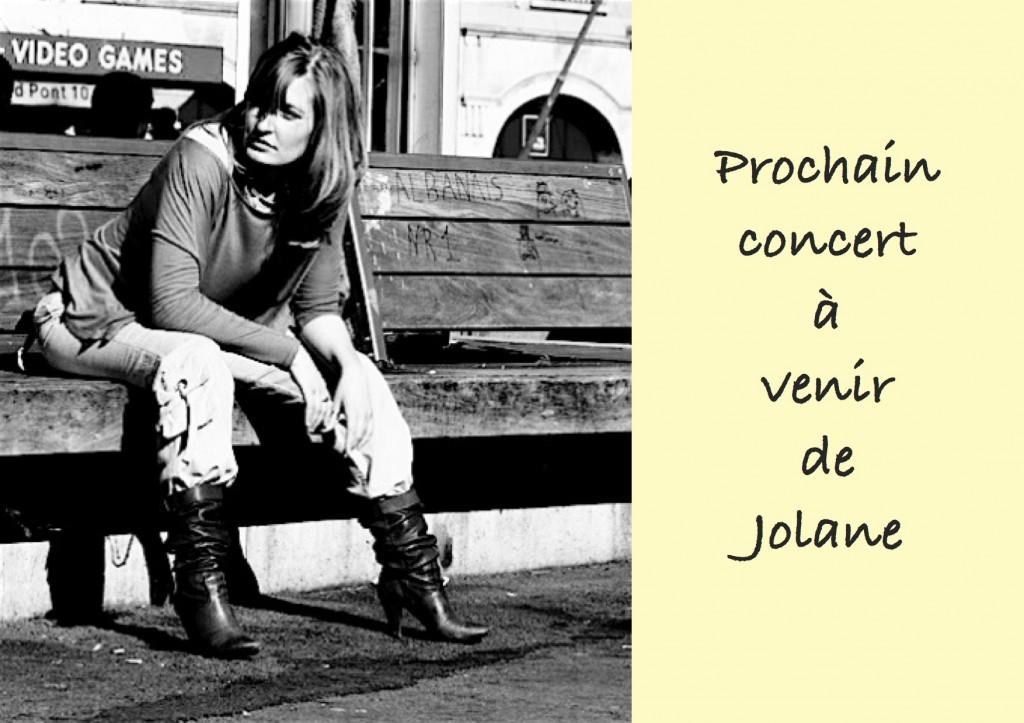 Prochain concert à venir de Jolane